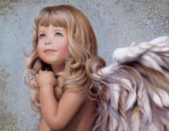 Картина по номерам 40x50 Милый ангелочек